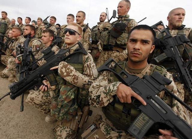 """驻守在阿富汗的德国""""国防军"""",(都跑到国外去保家卫国,本宝宝也是醉了)"""