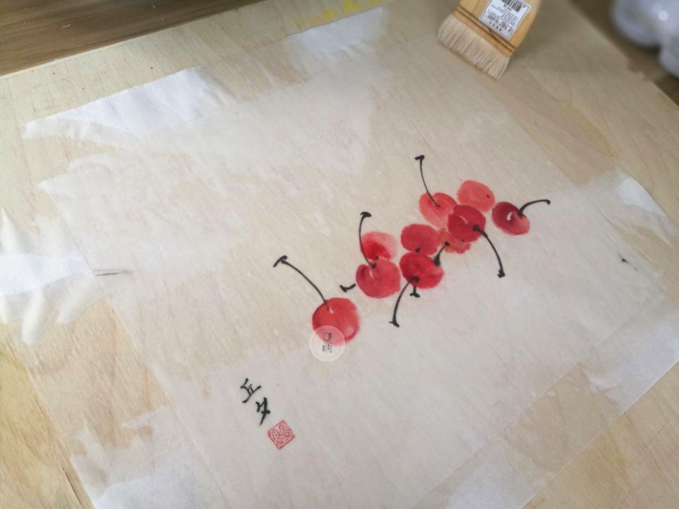 植物国画|教程托裱画心国画步骤图解图片