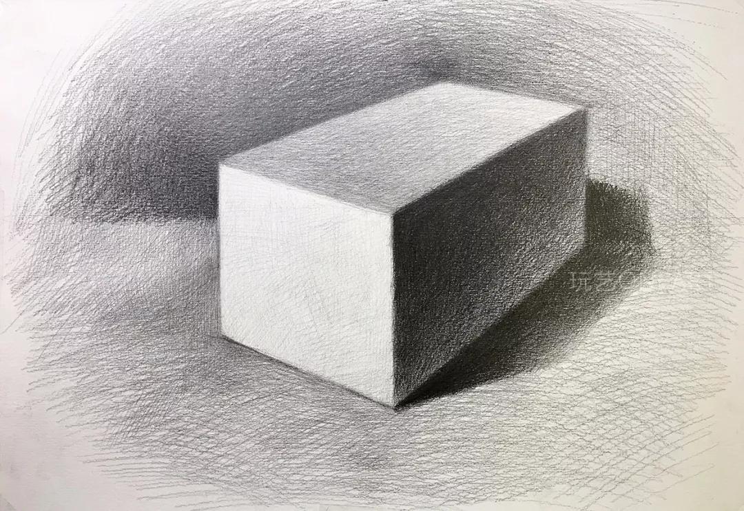 画好素描长方体,掌握的不仅仅只有黑白灰 | 玩艺课堂