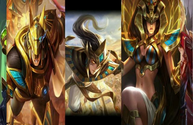 杨戬的埃及法老,云中君的荷鲁斯之眼,女娲的尼罗河女神,感觉像是一个