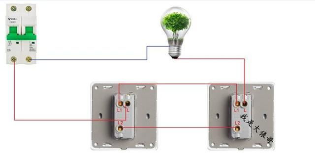 灯控接线的要点就是零线进灯火线进开关,一灯双控中间需要双连线,也