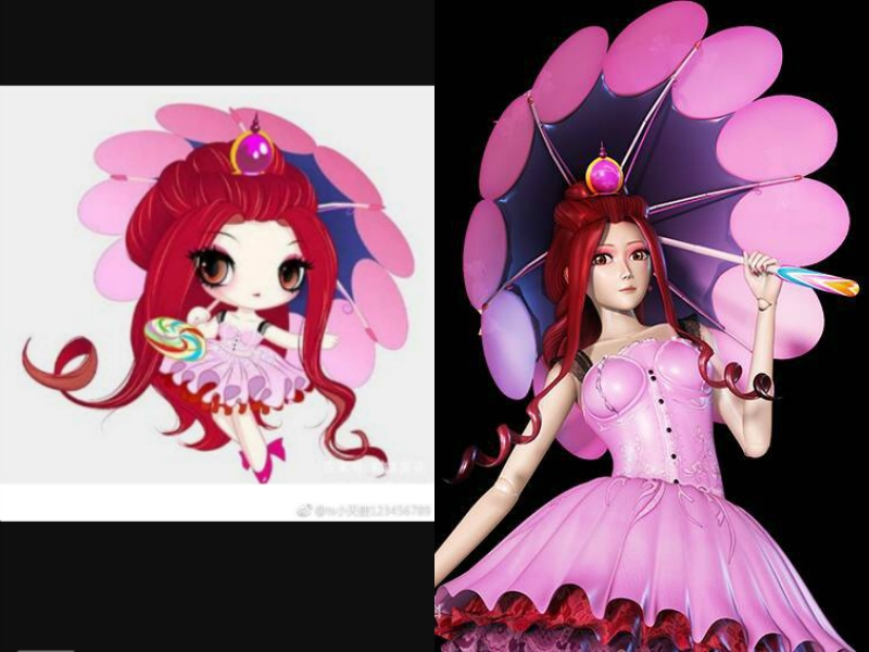 当《叶罗丽》的仙子都变成q版的后,冰公主变可爱,亮彩图片