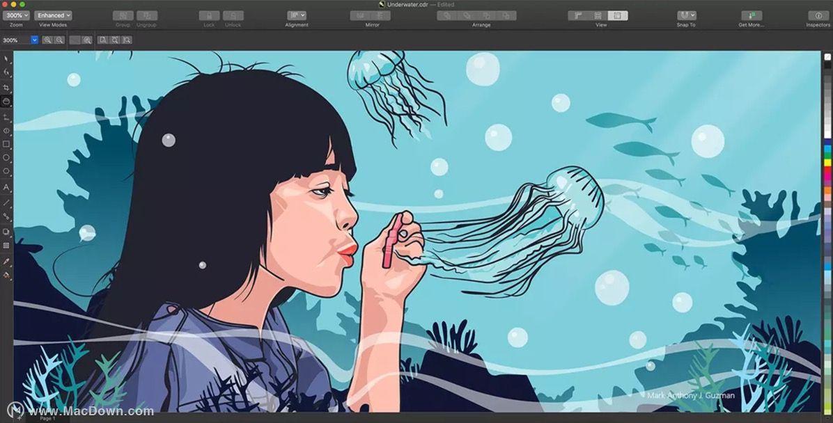 适用于mac的全新coreldrawgraphicssuite2019平面设计工艺.挤型软件模具设计图片