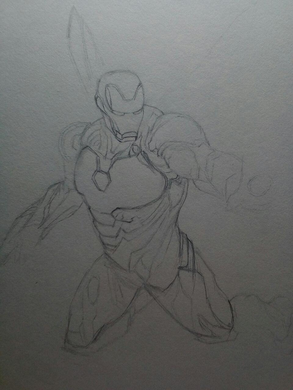 初中生有点厉害的手绘 钢铁侠 MK50 预告