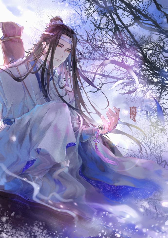 忘机琴是蓝忘机的专属武器,也代表着蓝忘机本人~而倒在一旁的天子笑图片