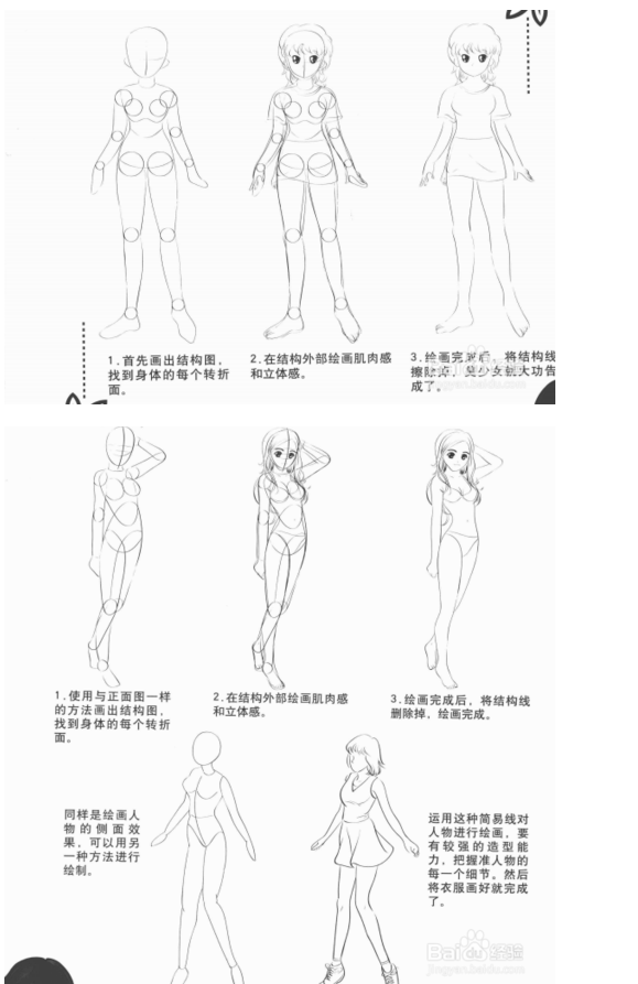 零基础初学入门画漫画学习教程图片
