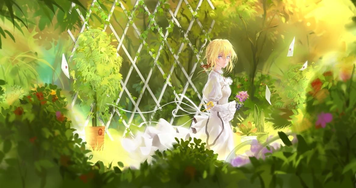 紫罗兰永恒花园的壁纸
