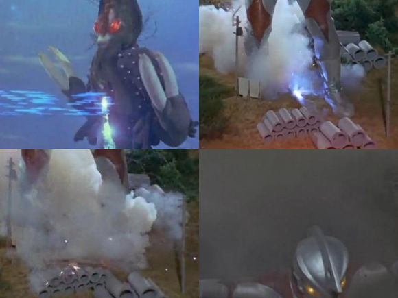 黑云超兽 雷德杰克 (レッドジャック/red jack)   登场于第三十话「きみにも见えるウルトラの星」(看得见的奥特之星)   身高:72米   体重:6万4千吨   出身地:东京k地区上空   全身喷出黑云,隐藏姿态的超兽.
