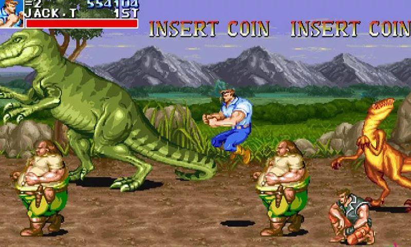 街机游戏飞机的打恐龙的