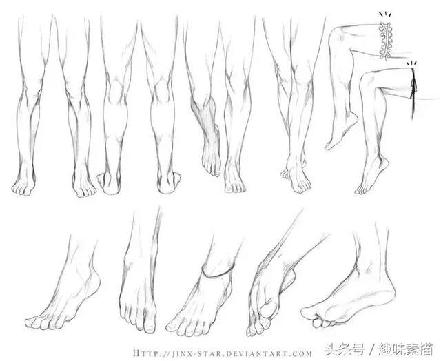 画好四肢对于素描,速写和动漫都有帮助,希望这篇文章图片