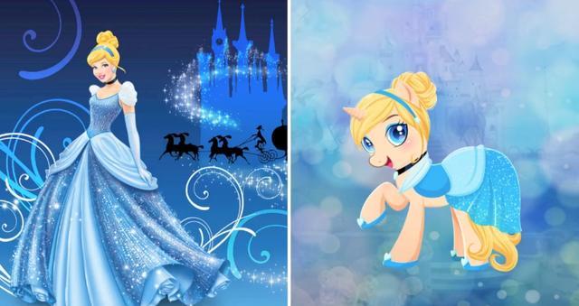 当迪士尼公主变成小马宝莉,网友 艾莎女王最美