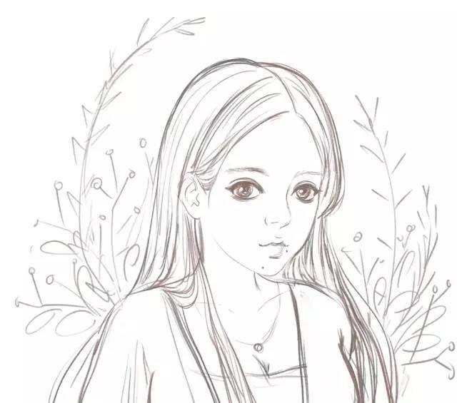板绘教程|清新简单的小女生头像