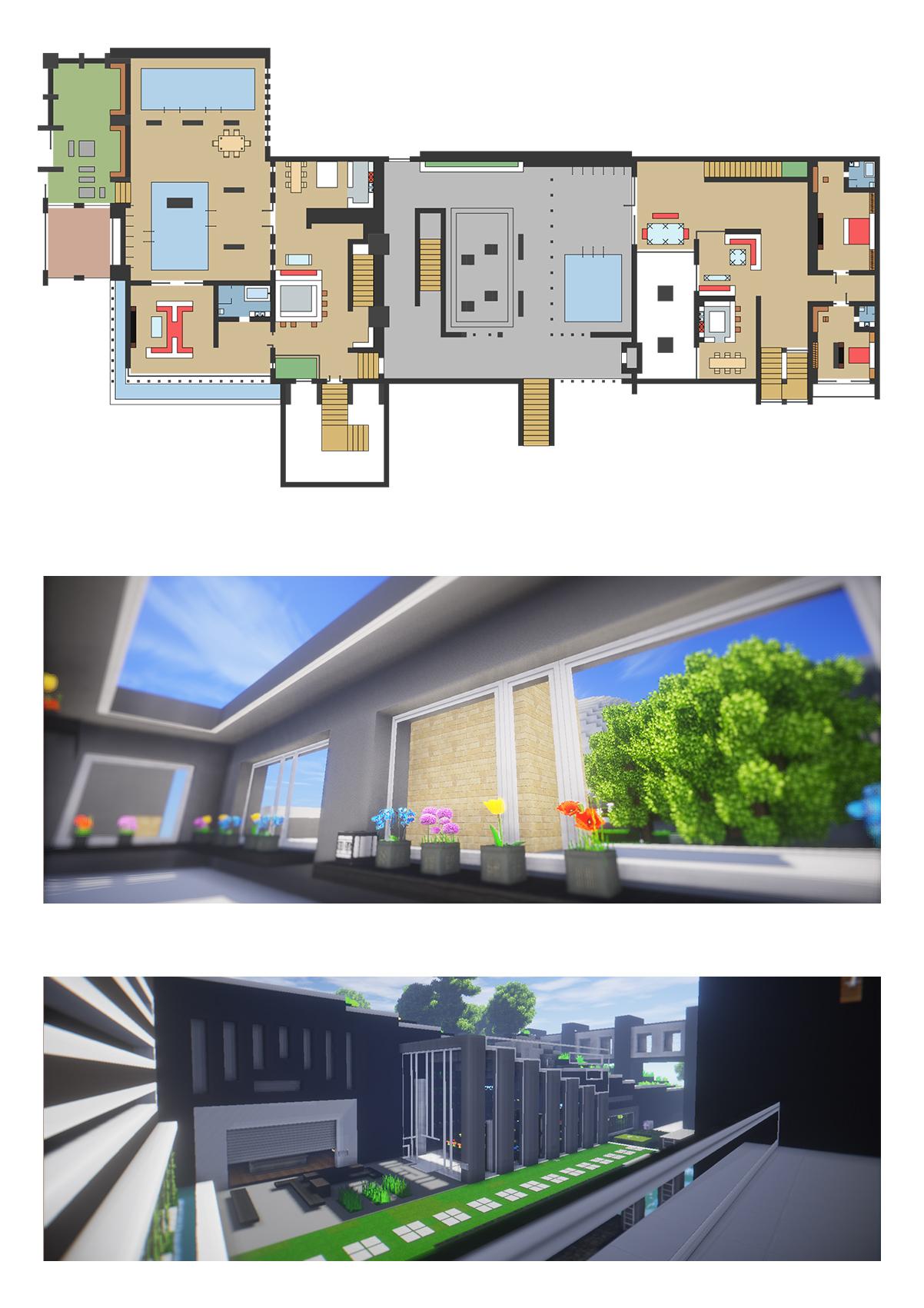 【我的世界现代建筑群】海岛v世界别墅--源梦岛廉江丽别墅波图片