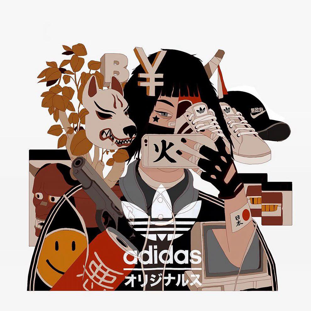 """日本复古风的""""不良少年""""快乐暑假漫画图片图片"""
