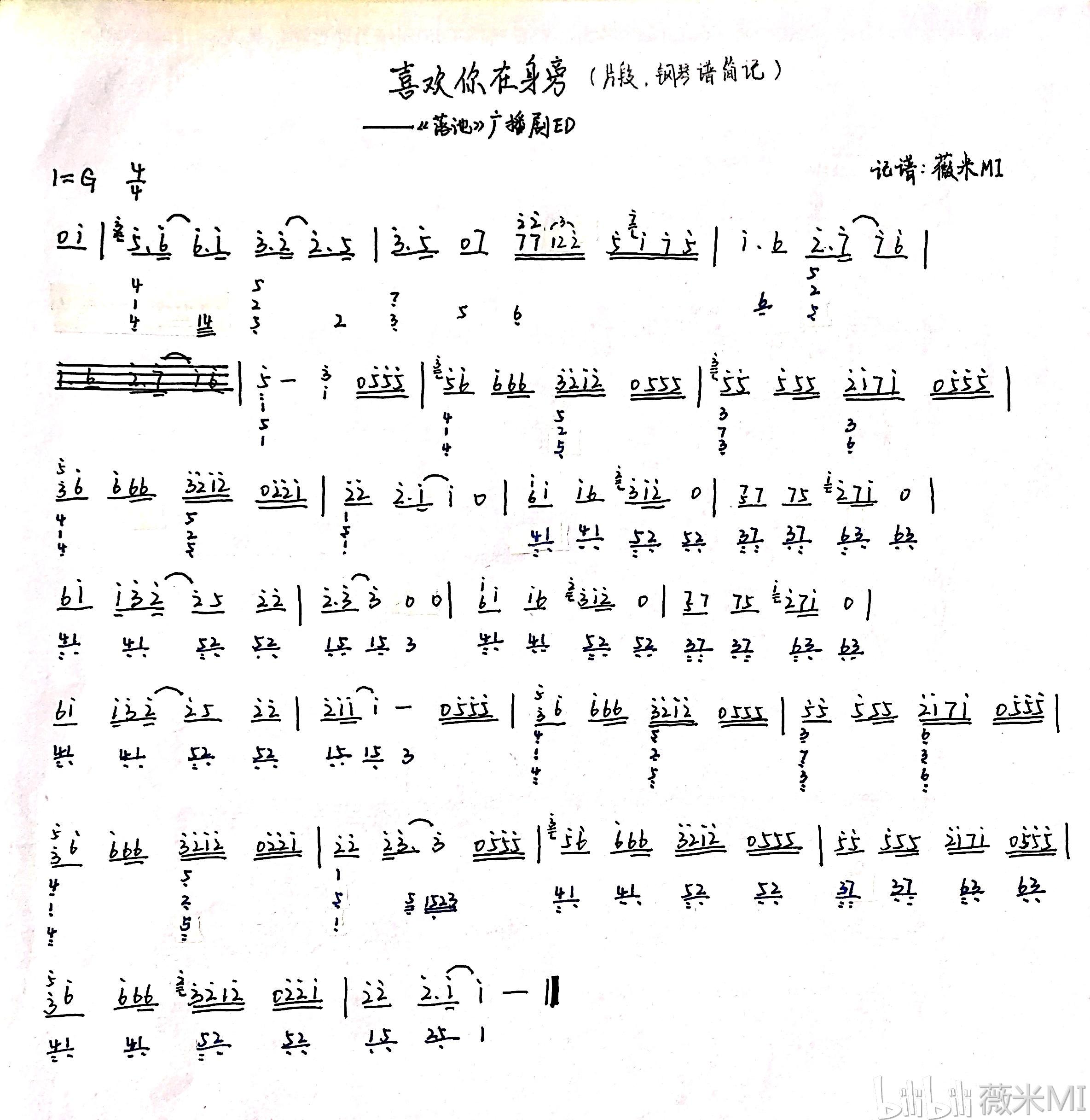 新鲜曲谱_钢琴简单曲谱
