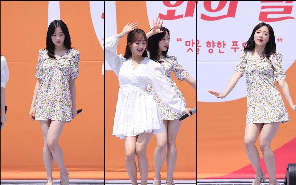 韩国女团热舞碎花裙
