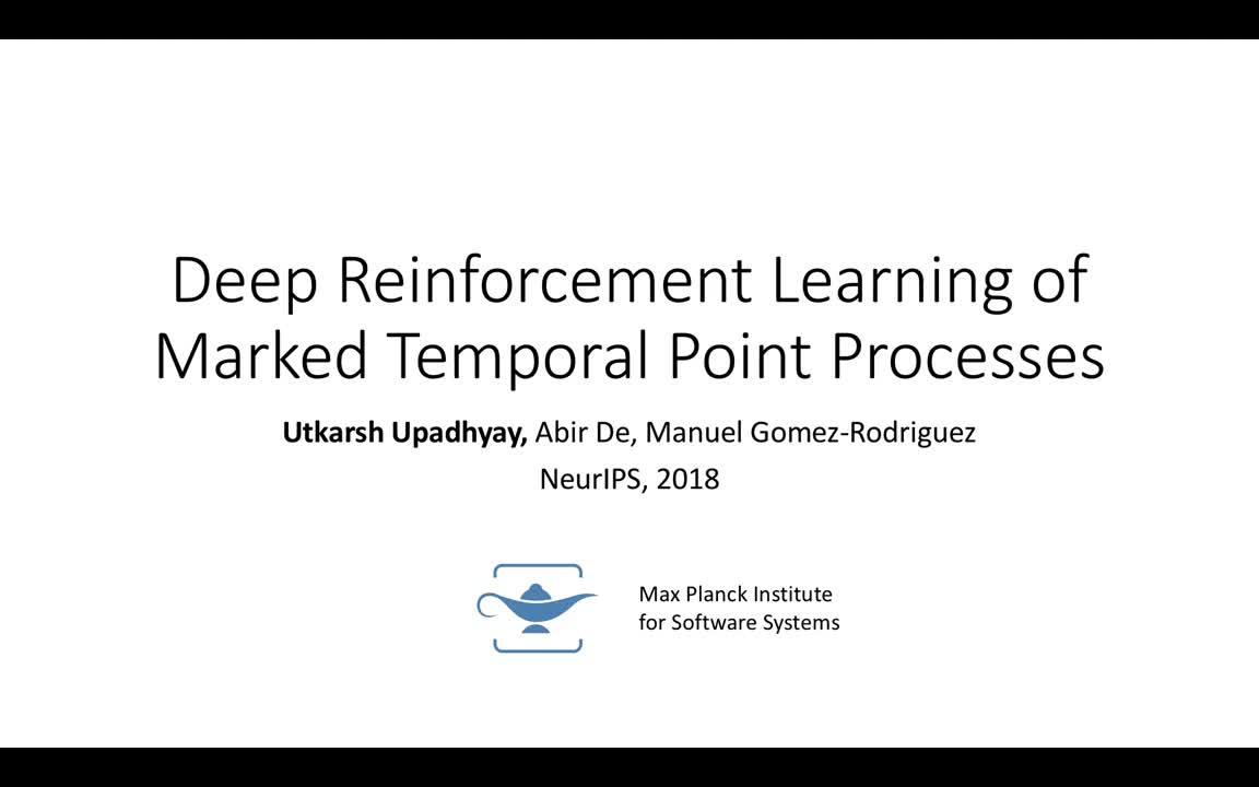 Deep Reinforcement Learning of Marked Temporal Point Processes