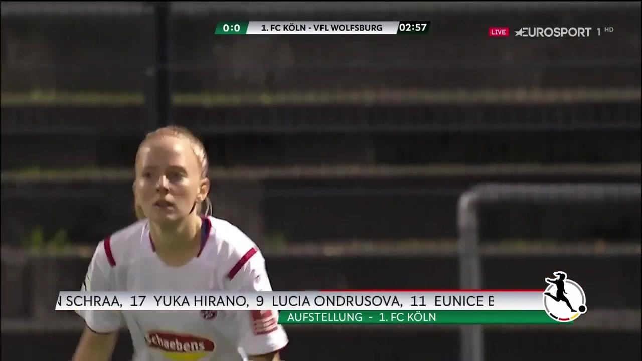 【德甲女足联赛】科隆女足VS沃尔夫斯堡女足 2019
