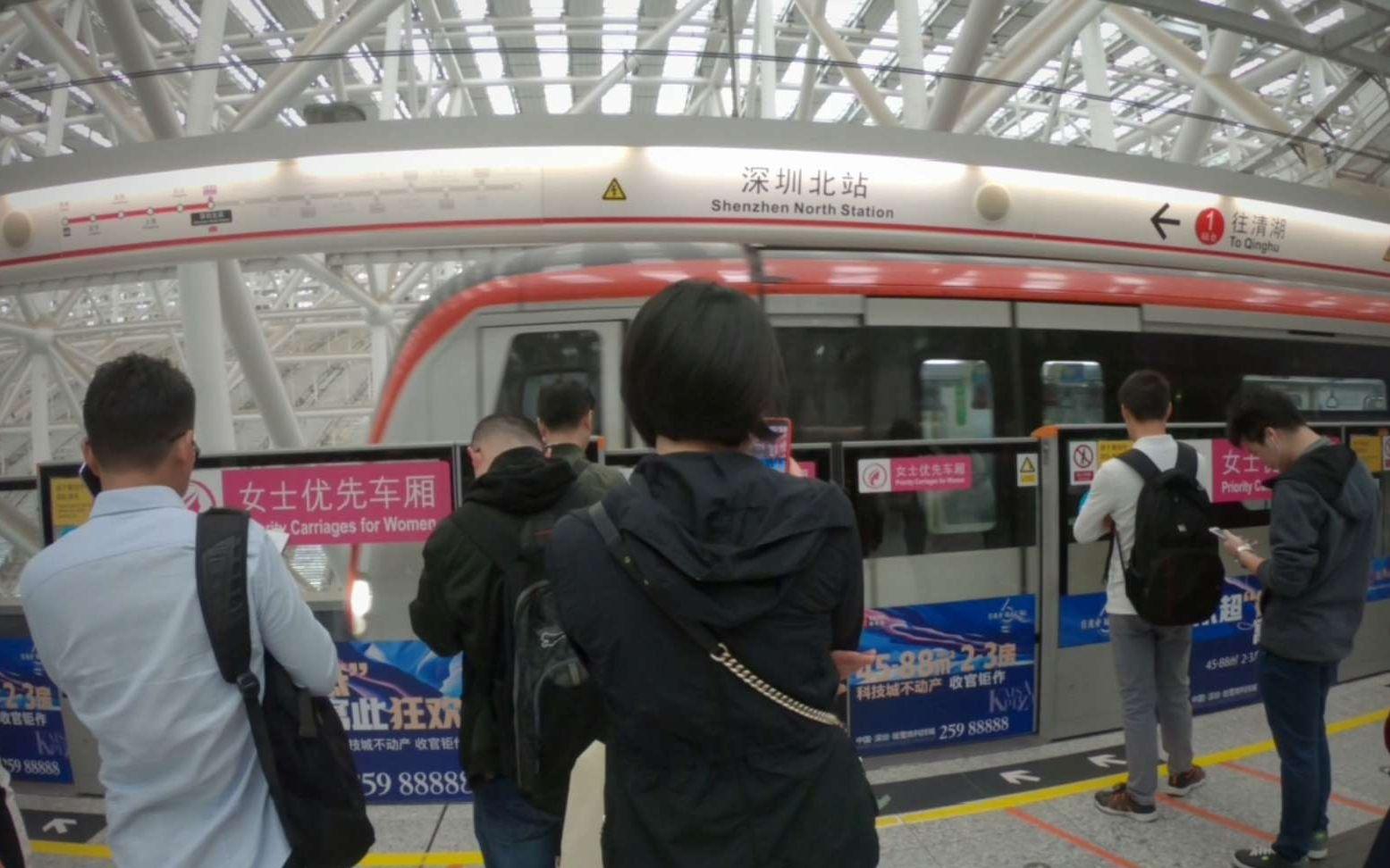 广东深圳:感觉成立龙华新区以后建设明显快了,实拍深圳北到清湖站