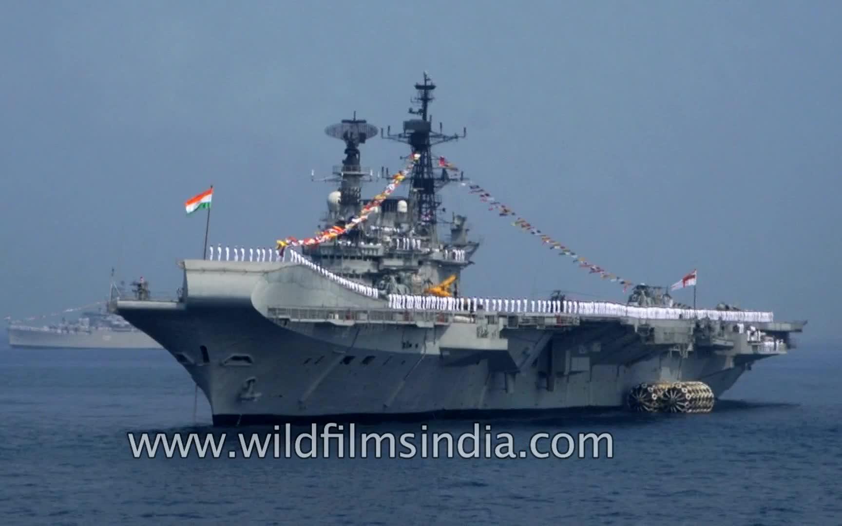 """印度维克拉玛蒂亚号_【印度海军】已退役 - """"维拉特""""号航空母舰(R22)(原英国皇家 ..."""