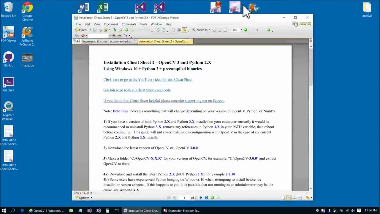 OpenCV 3 Windows 10 Installation Tutorial - Part 2 - Python_哔哩哔哩 (゜-゜)つロ  干杯~-bilibili
