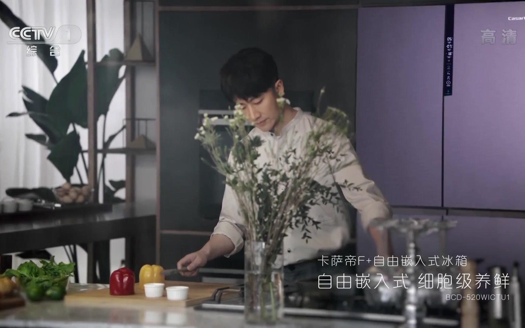 央视广告欣赏-卡萨帝F+自由嵌入式冰箱