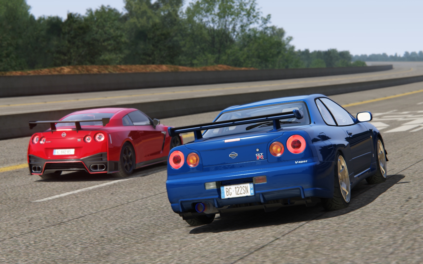 【assetto Corsa】ep23 我 吊锤 我自己?!魔改nissan Gt R R34与r35 Nismo