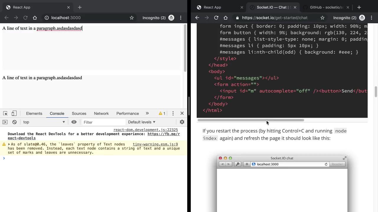 用react做一个简单的 google doc(react,typescript, slate js)_哔哩哔哩 (゜-゜)つロ  干杯~-bilibili