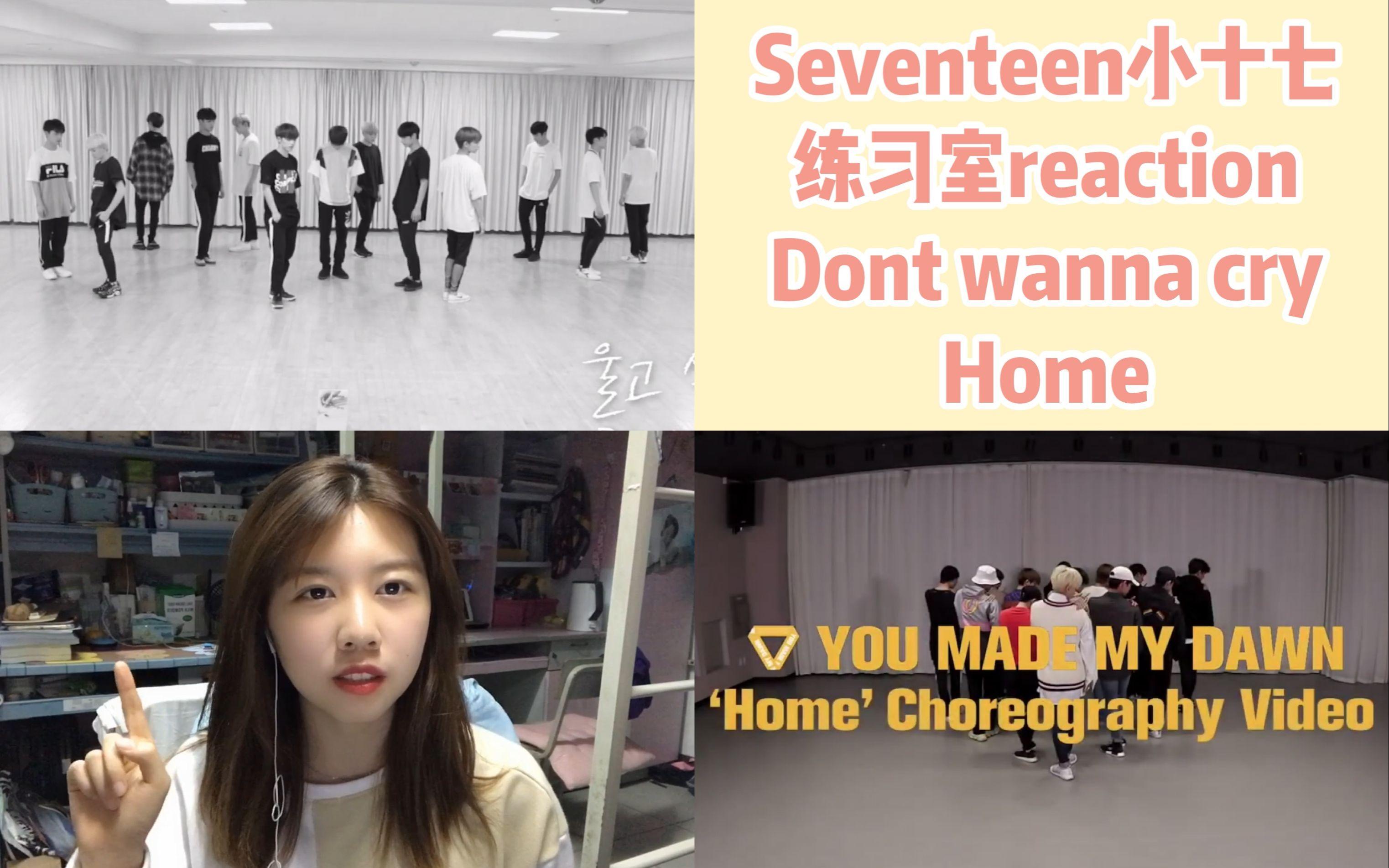 【Seventeen小十七练习室reaction】《Don't wanna cry》《Home》真的太整齐了!好喜欢他们的编舞!_哔哩哔哩  (゜-゜)つロ 干杯~-bilibili