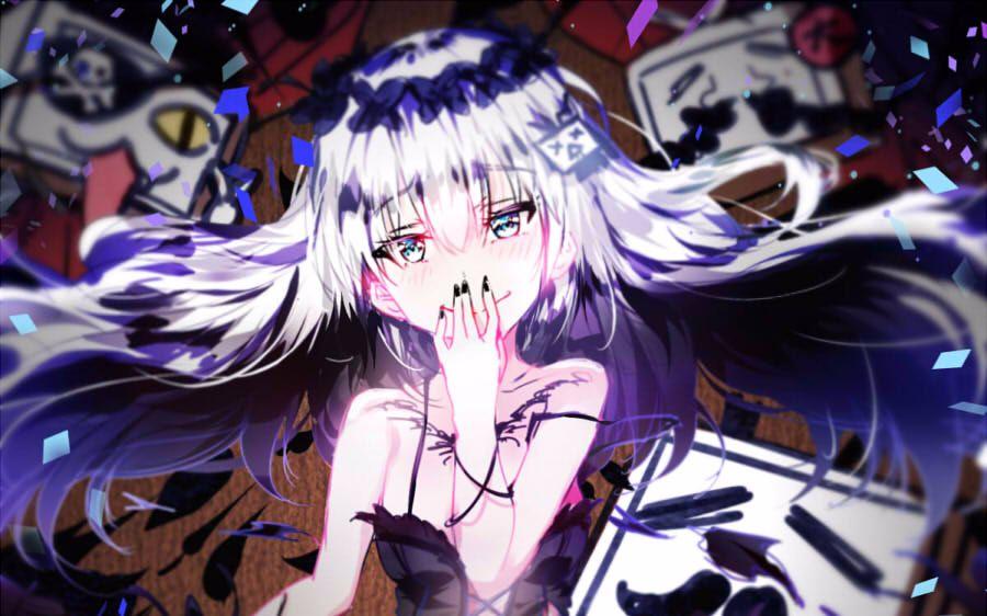 黑暗冷酷系少女(眝.??_动漫少女黑暗系.黑化高清图头像.
