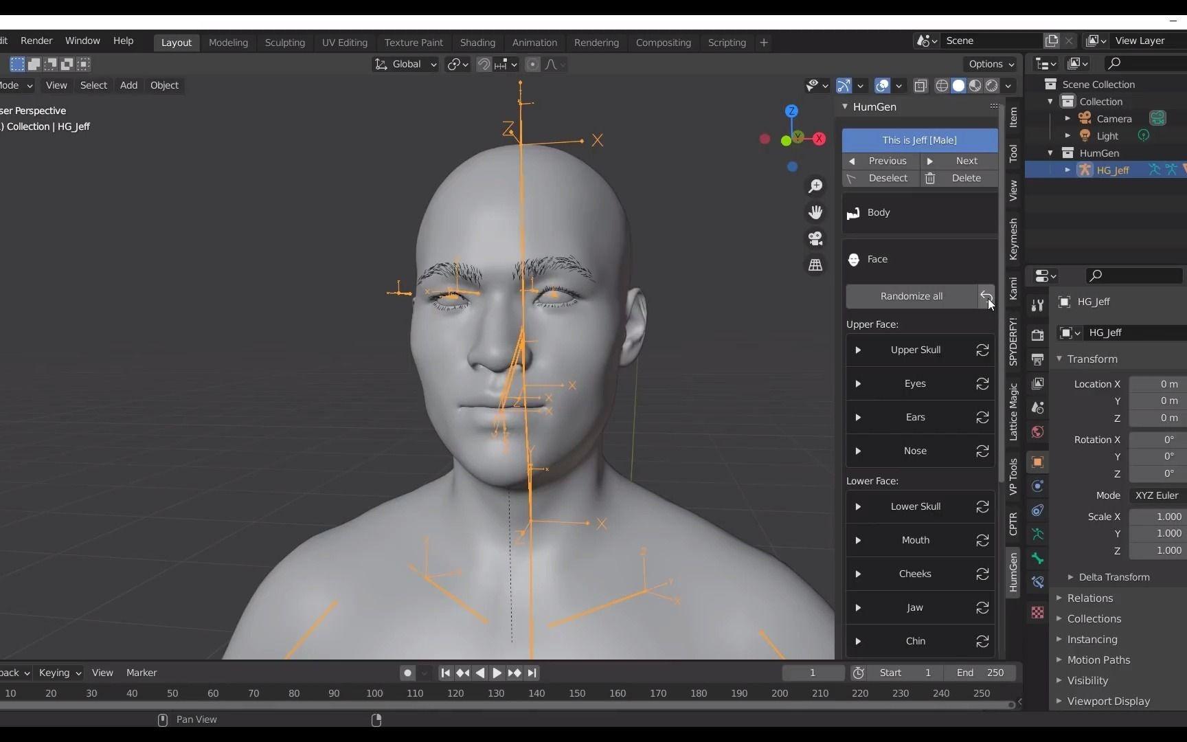 Blender数字人物模型生成插件Human Generator教程