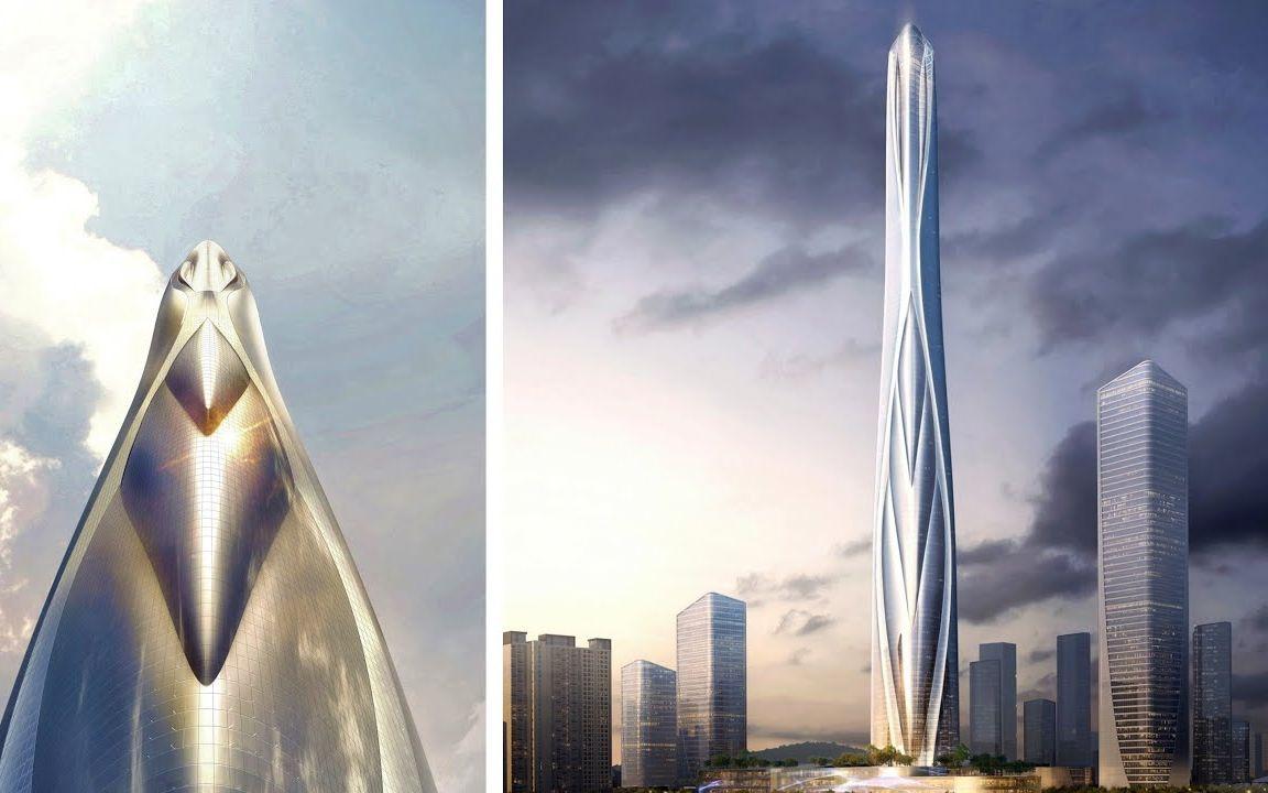高迪直播_【4k】中国最高建筑   深港国际中心   世界第二高楼_哔哩哔哩 (゜ ...