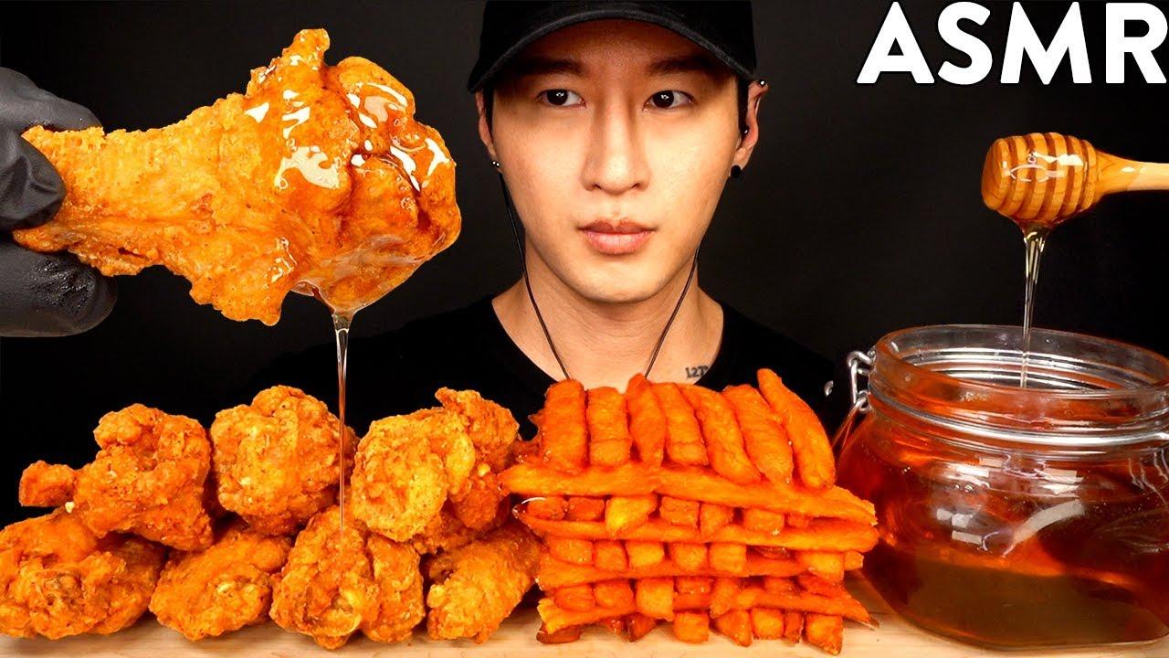 【zach choi】蜂蜜鸡翅和炸薯条Mukbang(不说话)吃的声音zach choi(2019年8月29日14时15分)