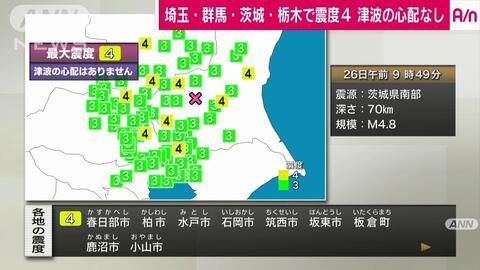 群馬 地震