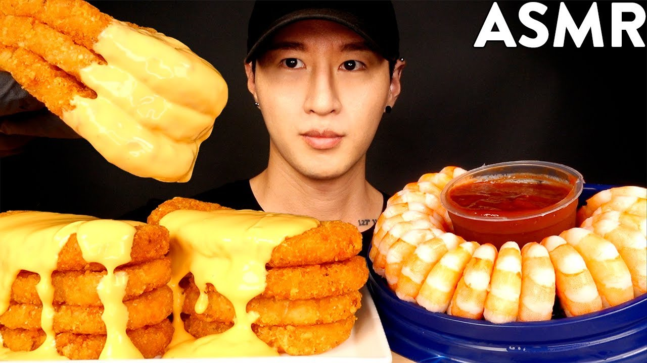 【zach choi】奶酪土豆饼和虾鸡尾酒Mukbang(不说话)吃的声音zach choi(2019年8月17日14时30分)