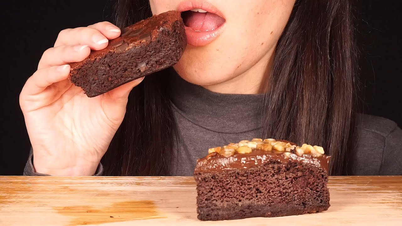 【hungry herbivore】比利时黑巧克力蛋糕和布朗尼(不说话)(2019年11月25日7时16分)