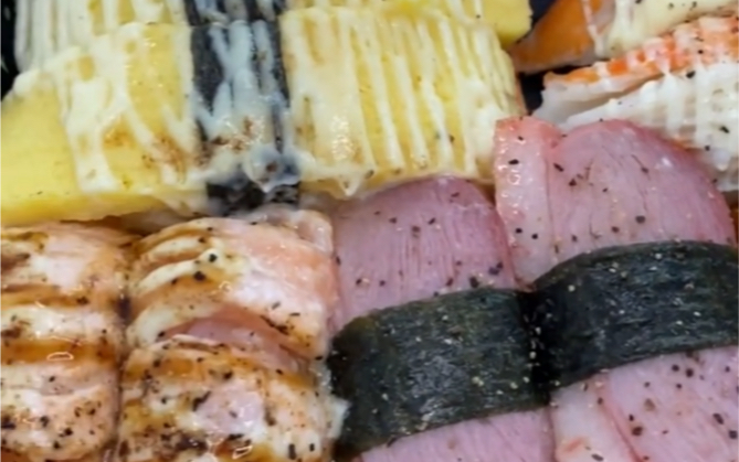 芥末让我心碎,可是寿司好美味