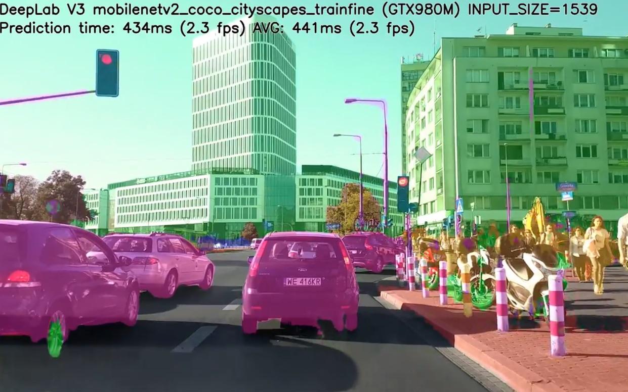 【 计算机视觉演示 】Tensorflow DeepLab v3 Mobilenet v2 YOLOv3 Cityscapes(英文)_哔哩哔哩  (゜-゜)つロ 干杯~-bilibili