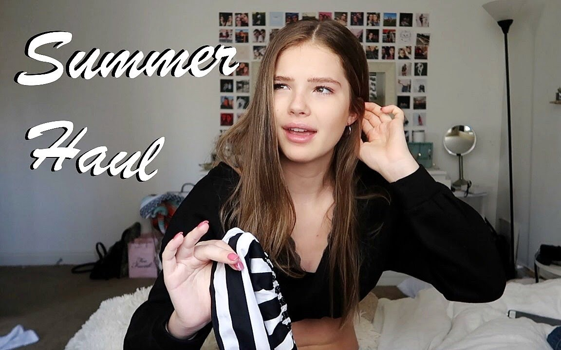 Ellie Thumann 夏季服饰购物分享 Huge Summer Try On Clothing Haul 哔哩哔哩 つロ 干杯 Bilibili