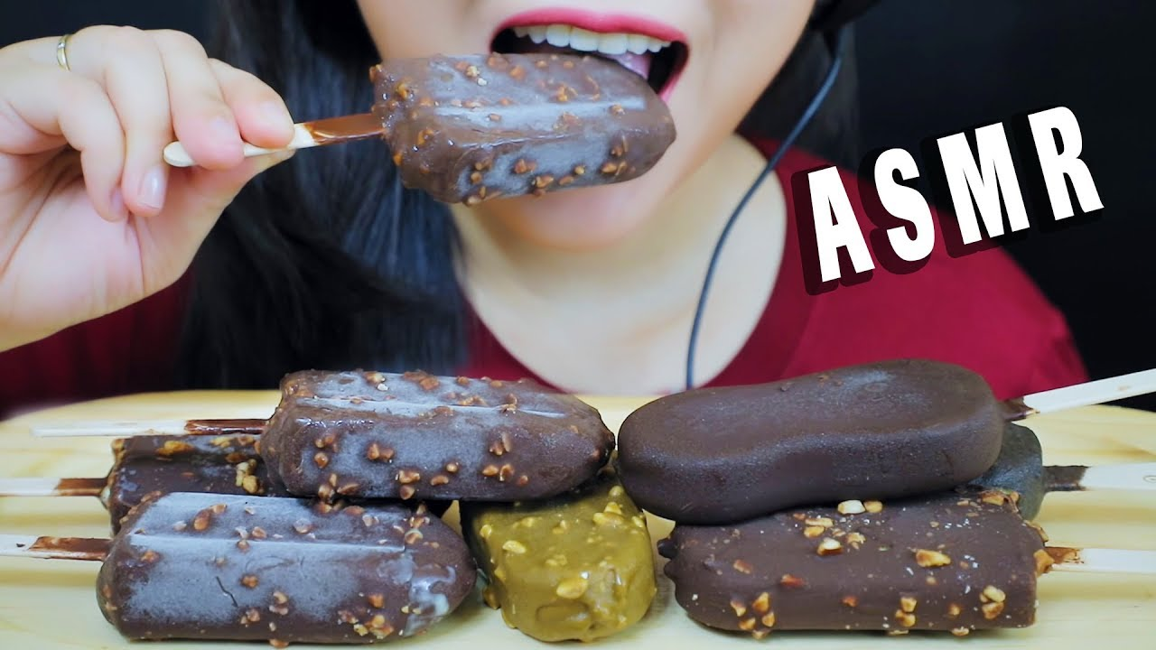 【玲玲小姐姐】巧克力冰淇淋(Celano、Wall's、Cremo、Nestle、Oreo)噼啪作响-(2019年9月17日19时3分)