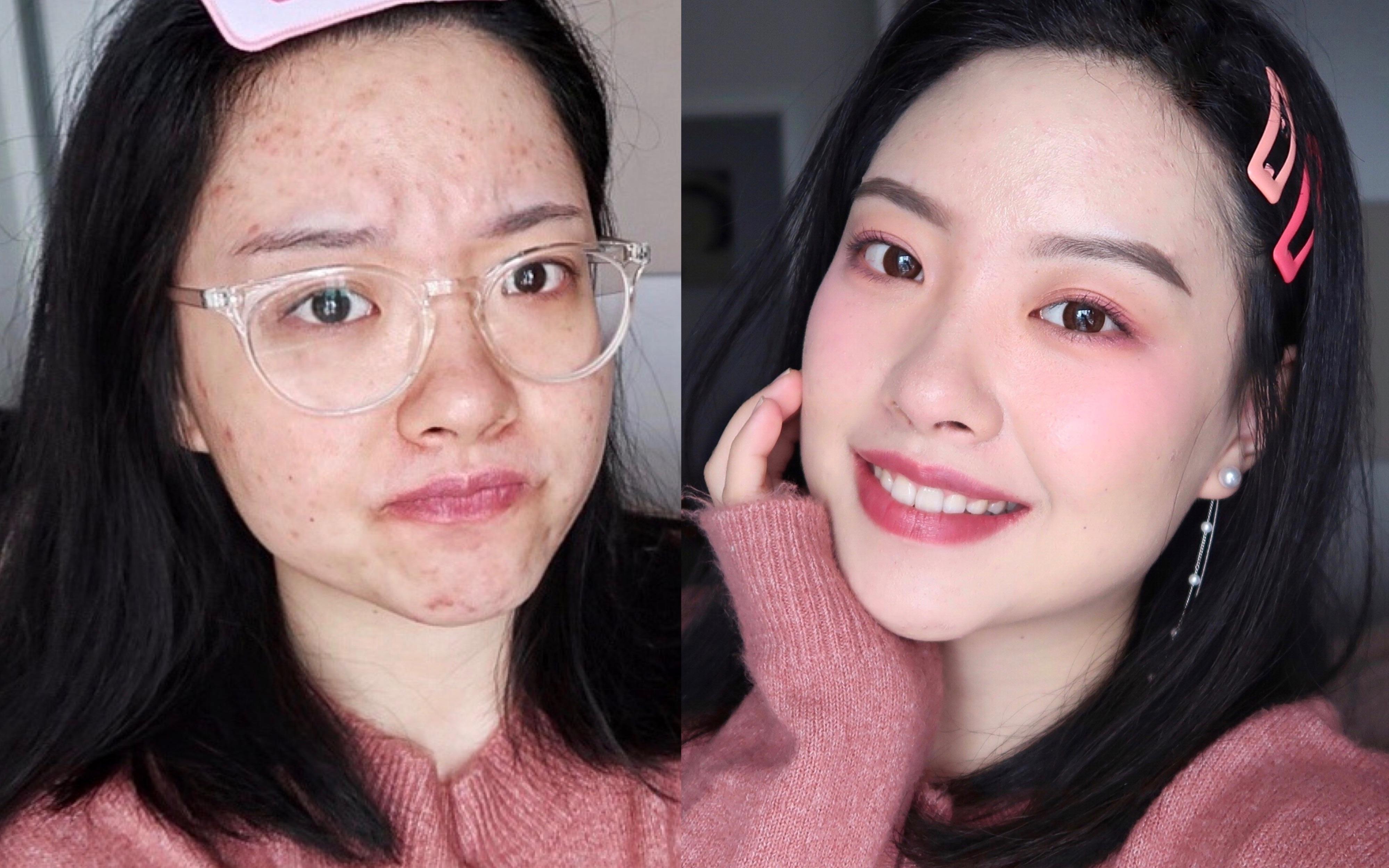 【一花】变身可爱粉嫩女孩 / 超适合新手的简单妆容