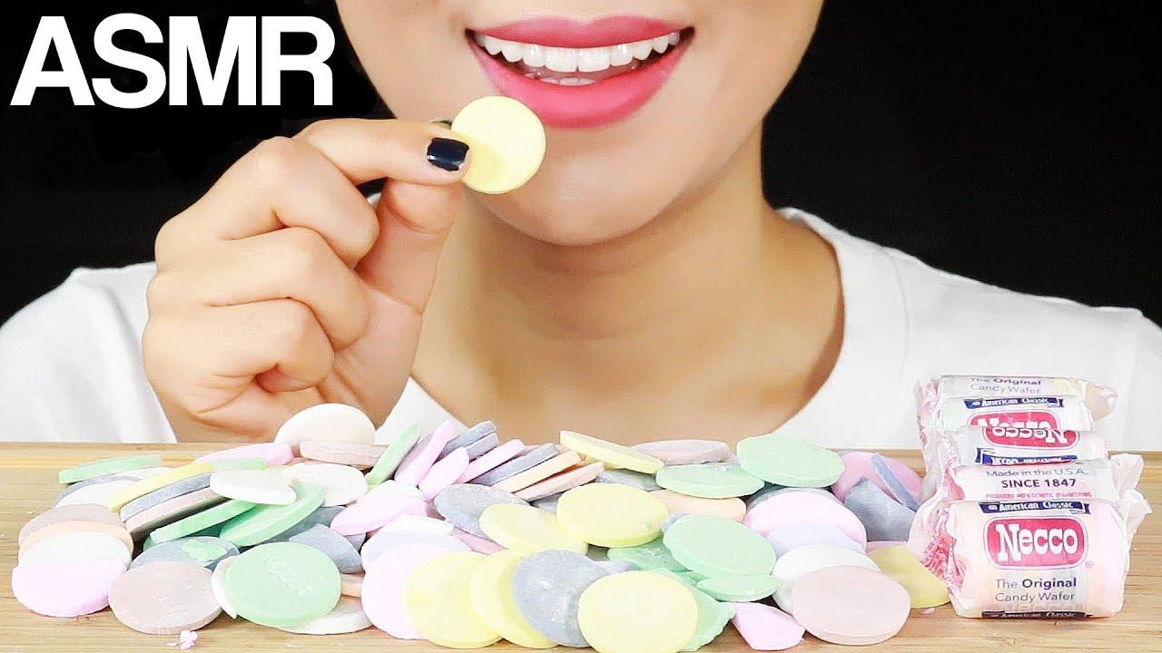 【minee】necco华夫饼干糖果*松脆和白垩*吃起来声音很重,不说话(2019年9月11日19时30分)