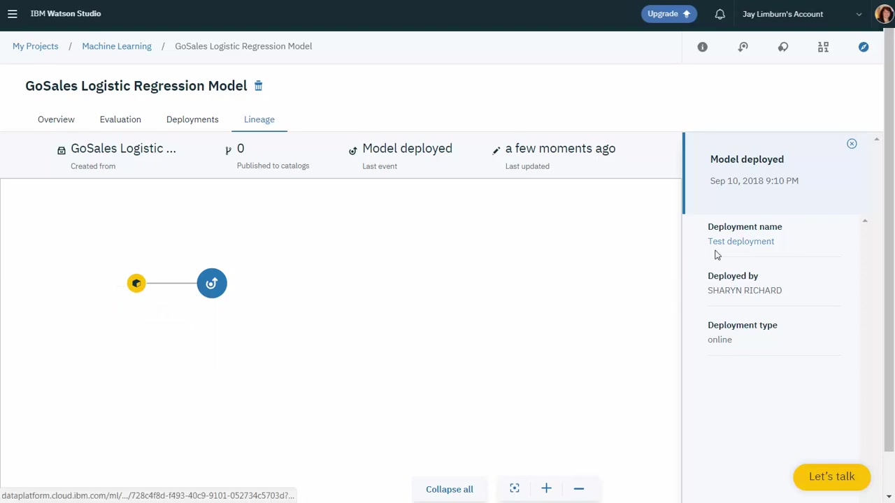 IBM Watson Knowledge Catalog: Track model lineage