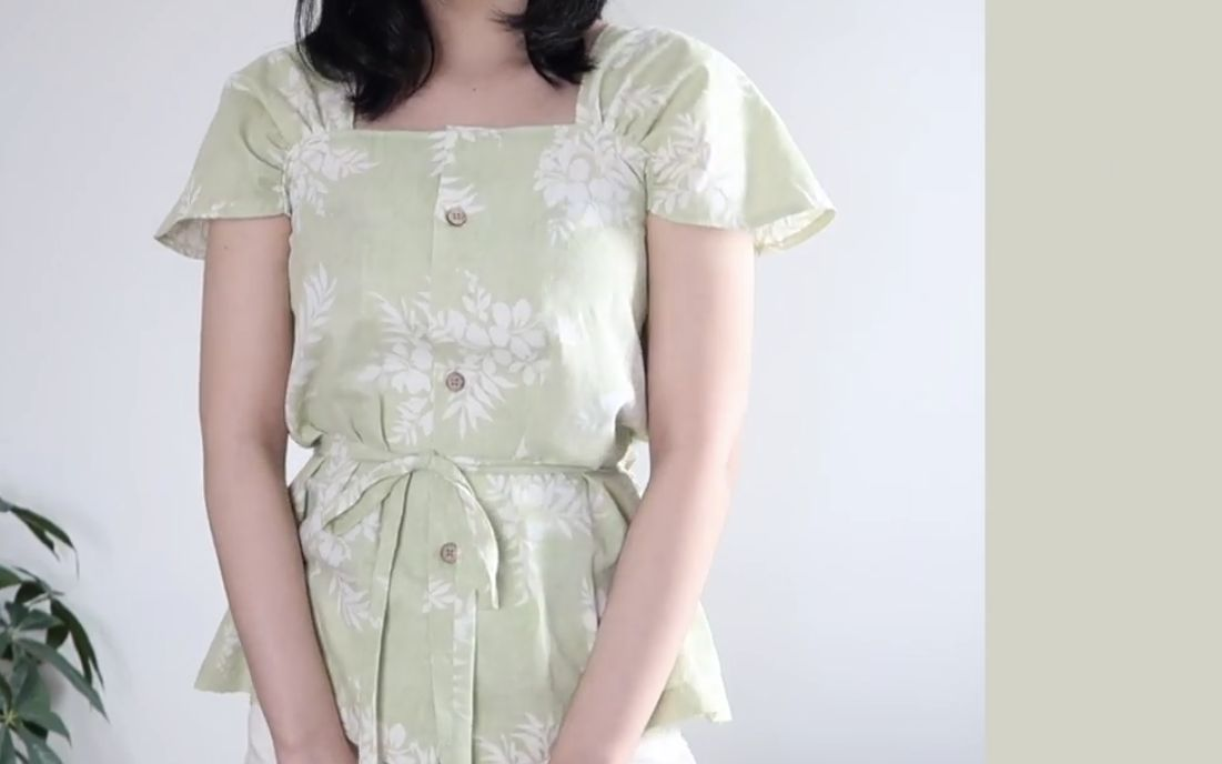 Refashion DIY 夏季衬衫 Mens Shirt into Summer Blouse- madebyaya