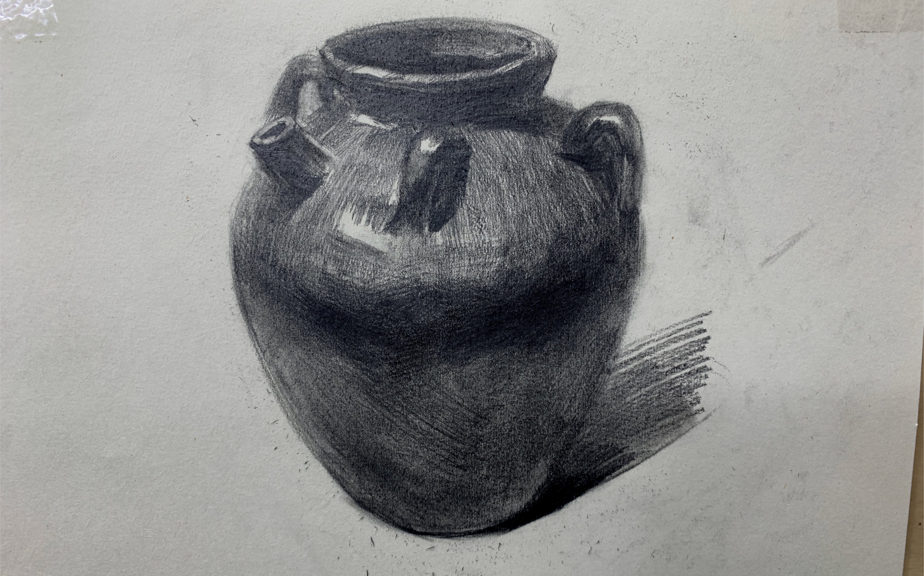 "静物素描罐子_素描静物""陶罐""——上色讲解_哔哩哔哩 (゜-゜)つロ 干杯~-bilibili"