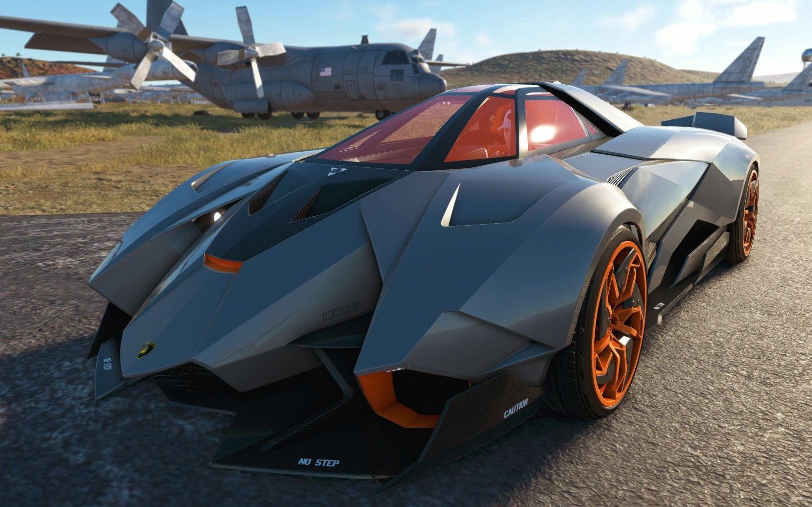 战斗机造型的兰博基尼自私概念车 全世界仅一辆 Lamborghini Egoista