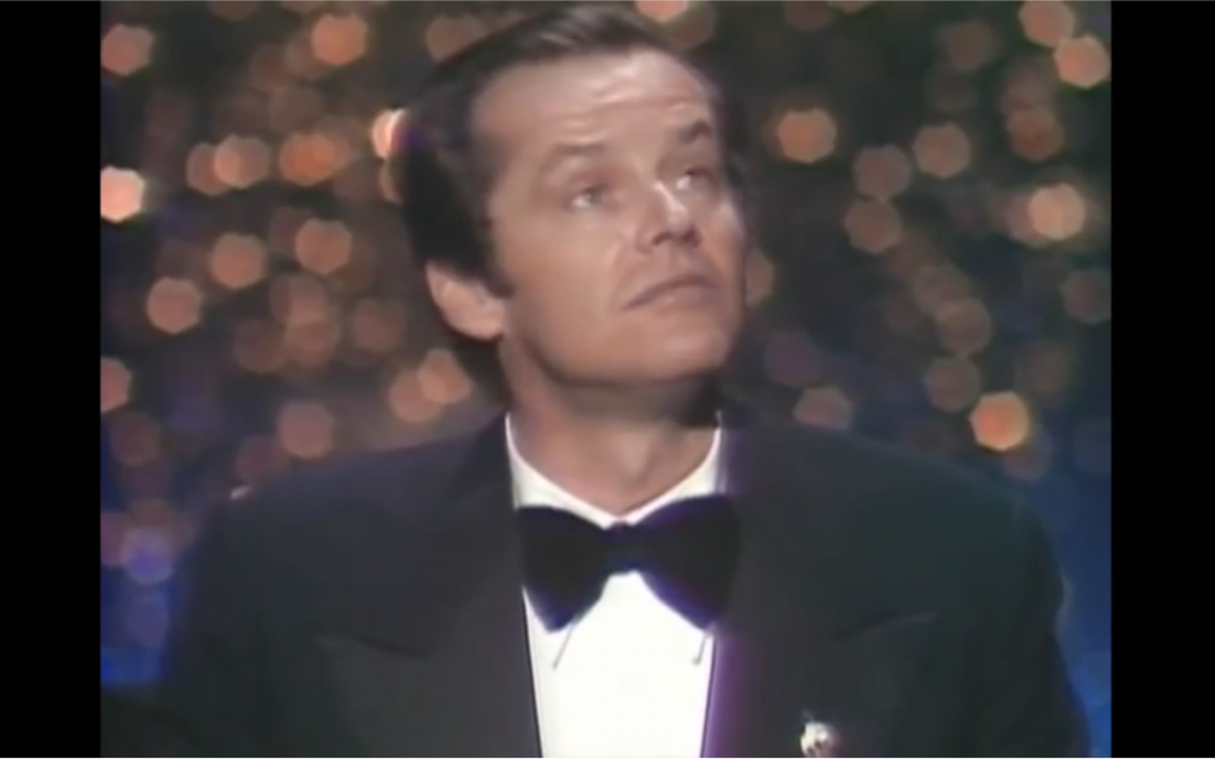 1976年奥斯卡,杰克尼科尔森获最佳男主角奖,飞越疯人院