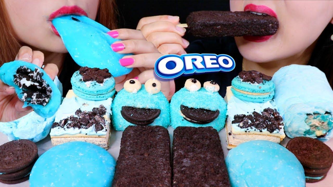 【kim&liz】奥利奥冰淇淋,蓝色奥利奥莫奇,棉花糖卷饼,麦卡龙,斯诺宝金利兹(2019年9月14日22时46分)