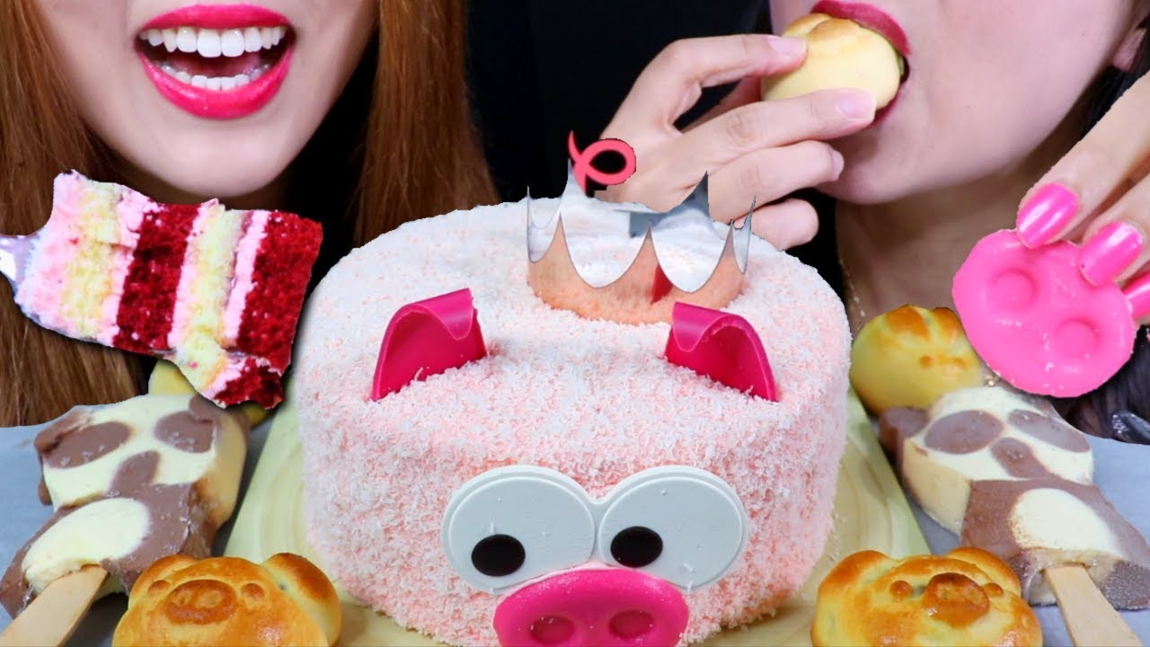 【kim&liz】红丝绒蛋糕,熊猫冰淇淋,草莓月饼(2019年9月12日22时31分)