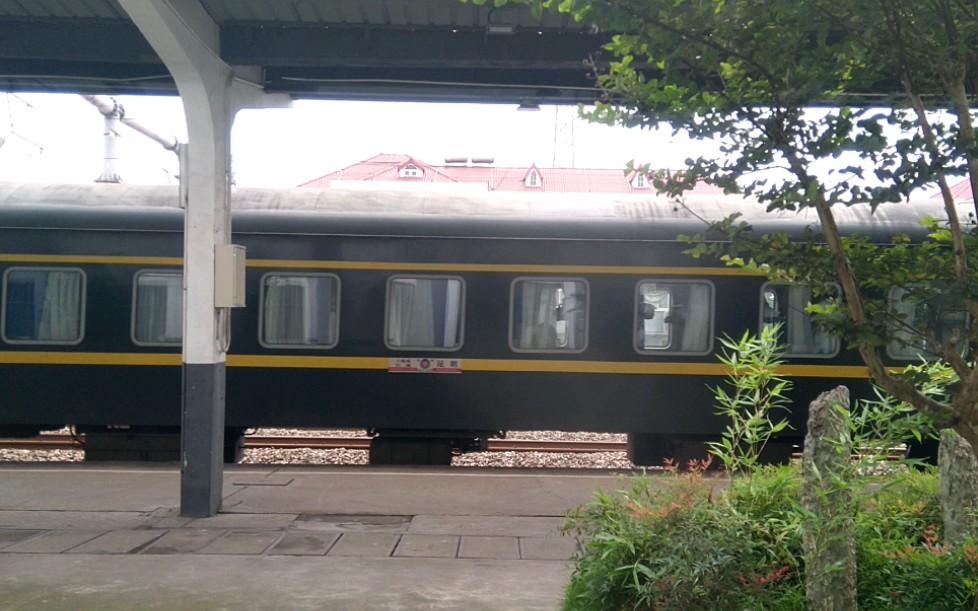 【松江站拍车】SS8牵引客列松江站1站台停车   上海南方向